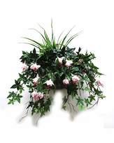 Fashion World Artificial Plant Fuchsia Wall Basket