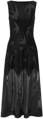 Alaia Sleeveless velvet midi dress