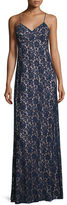 Donna Morgan Gia Sleeveless V-Neck Lace Column Gown