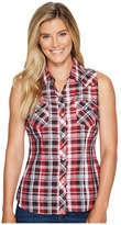 Roper 1038 Black, Red and White Plaid Women's Clothing