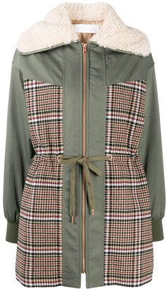 See by Chloe Panelled Parka Coat