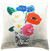 Kate Spade Flower Vase Silk & Cotton Square Feather Pillow