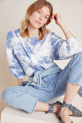 Eri + Ali Anya Tie-Dyed Buttondown By in Blue Size S