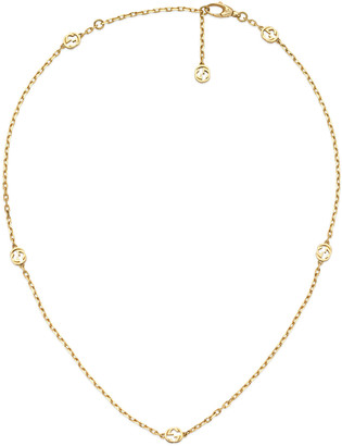 Gucci Interlocking G 18k Gold Chain Necklace