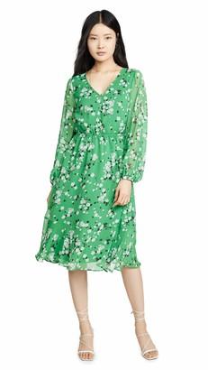 Cupcakes And Cashmere Women's Rosalia Floral Crinkle Chiffon Midi Dress