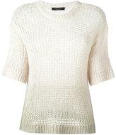 Roberto Collina cropped sleeves jumper - women - Silk - XS