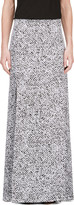 Richard Nicoll Black and White Crepe De Chine Maxi Skirt