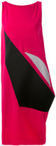 Issey Miyake asymmetric panel dress - women - Polyester/Triacetate - 2