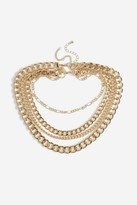 Topshop Mega Layered Chain Necklace