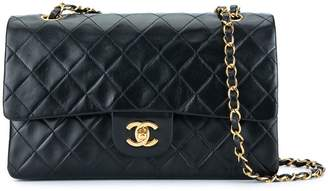 Chanel Pre-Owned quilted CC logo double flap chain shoulder bag