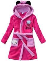 feetoo 2017 new kitten pattern children bathrobe girl Nightgown robe