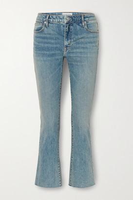 SLVRLAKE Sara Low-rise Cropped Bootcut Jeans - Mid denim