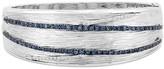 Effy Jewelry Effy 925 Sterling Silver Blue Sapphire and Diamond Bangle, 1.34 TCW
