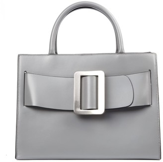 Boyy Grey Leather Bobby Bag