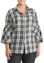 Lauren Ralph Lauren Plus Plaid Cotton Button-Down Shirt