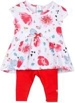 Catimini Girls Printed Jersey Dress + Leggings