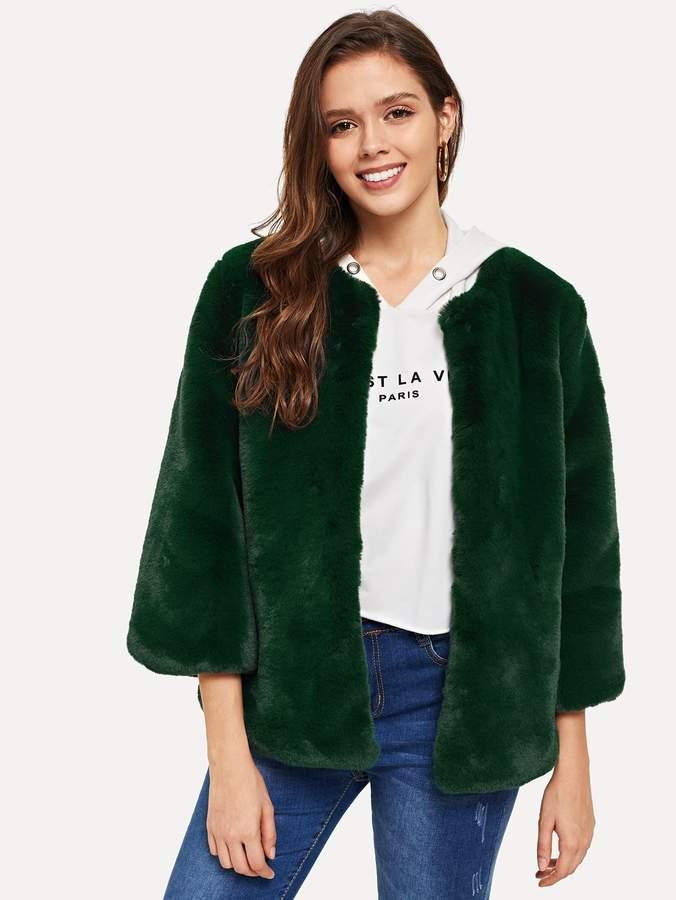775693f044 Shein Green Fur & Shearling Coats on Sale - ShopStyle