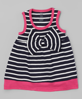Hudson Baby Navy Stripe Big-Bow Scoop Neck Dress