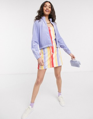 Nike rainbow stripe mini bodcon dress