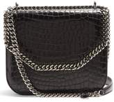 Stella McCartney Falabella Box crocodile-effect cross-body bag
