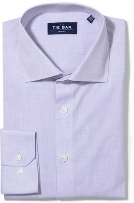 Tie Bar Summer Solid Lavender Non-Iron Dress Shirt