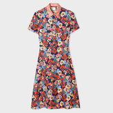 Paul Smith Women's Silk Dress With 'Wild Garden' Print
