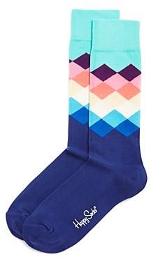 Happy Socks Faded Diamonds Socks - 100% Exclusive