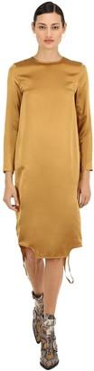 Marques Almeida Marques'almeida Twisted Silk Satin Dress