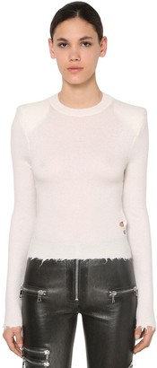 Unravel Padded Shoulders Sweater