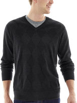 Claiborne Tonal Argyle Sweater