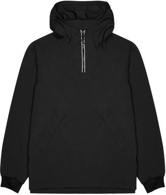 Kenzo Black Hooded Logo Shell Jacket