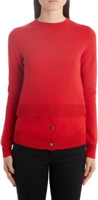 Alexander McQueen Layered Hem Sweater