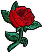 Logophile Embroidered Rose Patch
