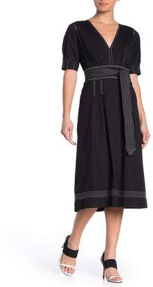 Veronica Beard Salome Tie Waist Dress