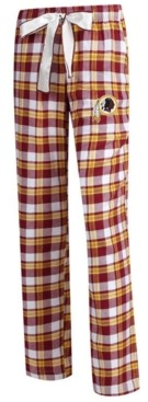 Redskins Concepts Sport Women's Washington Piedmont Flannel Pajama Pants
