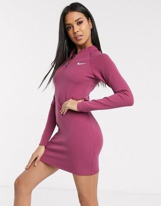 Nike long sleeve mauve mini dress