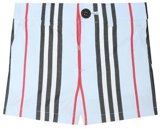 BURBERRY KIDS Baby Nicki Icon Stripe cotton shorts