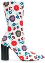 Reinaldo Lourenço - flower print boots - women - Cotton - 36