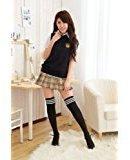 Dolce & Gabbana Classic! School Uniform cosplay check skirt size L cosplay three-piece set (japan import)