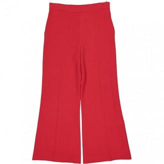 Fendi Red Wool Trousers