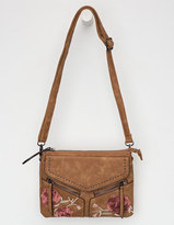 VIOLET RAY Embroidered Leanna Crossbody Bag