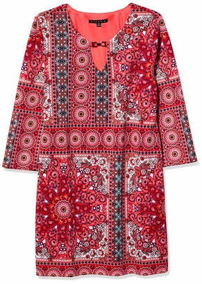 Tiana B T I A N A B. Women's Border Print Shift Dress