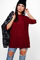 Boohoo Talia Turtle Neck Ribbed Pocket T-Shirt