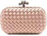 Bottega Veneta Knot satin and water-snake clutch