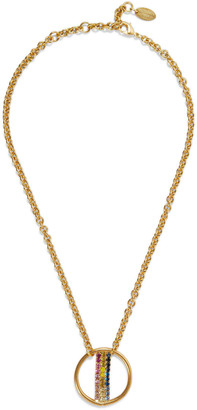 Elizabeth Cole Leroy 24-karat Gold-plated Swarovski Crystal Necklace
