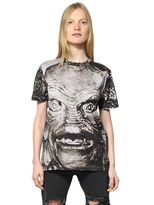 Christopher Kane Monster Print Cotton Jersey T-Shirt