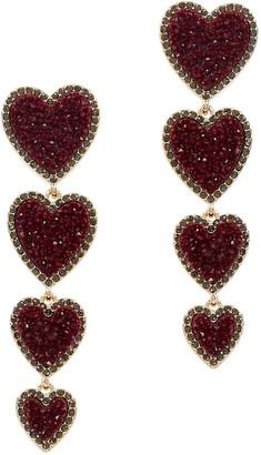 BaubleBar Louis Gold-tone Heart Drop Earrings