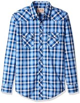 Wrangler Men's Big and Tall Two Pocket Long Sleeve Western Shirt