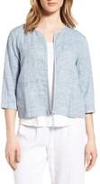 Eileen Fisher Women's Organic Cotton & Linen Crop Jacket