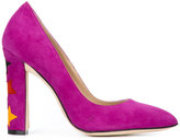 Paula Cademartori Cinderella pumps - women - Leather/Calf Suede - 35